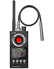 JMDHKK Anti Spy RF Detector Bug Detector, Camera Finder Scanner, GPS Tracker Detector, Find and Locate Eavesdropping Device AI Auto Scan 4-in-1 Easy to Use, Rechargeable