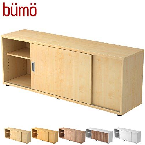 Hamerbacher Sideboard met schuifdeur | Office schuifdeurkast | voor ordner & opbergruimte voor materiaal kantoormeubilair | in 12 kleuren ahorn