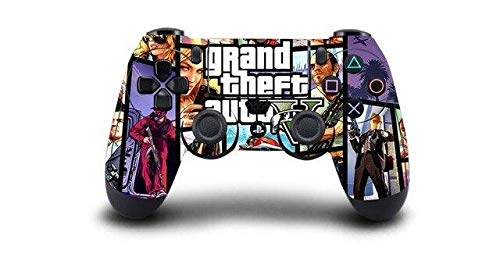 Homie Store 1pcs Grand Theft Auto V GTA 5 PS4 Skin Sticker Decal Vinyl for Sony PS4 Playstation 4 Dualshock 4 Controller Skin Stickers - A5 QBTM0710