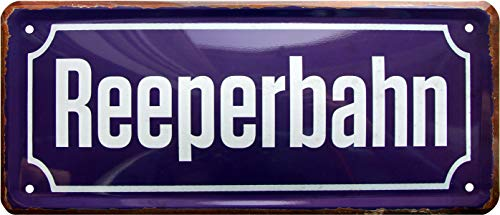 Reeperbahn Hamburg Altona Kietz 28x12 Deko Blechschild 1084