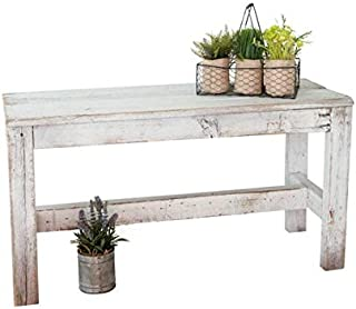 Barnwood Bench by Del Hutson Designs (Distressed White)