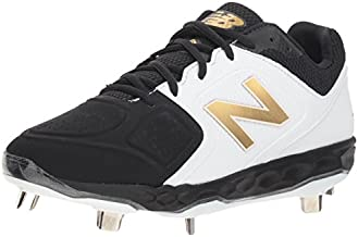 New Balance Women's Fresh Foam Velo V1 Metal Softball Shoe, Black/White, 9.5 M US