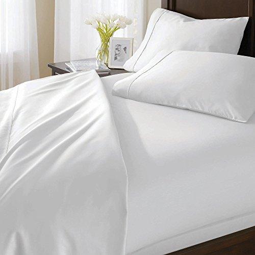 1000hilos 3piezas Juego de funda nórdica sólido (blanco, Reino Unido King Size150X 200cm (5ft x 6ft 6in)) 100% algodón egipcio Premium calidad