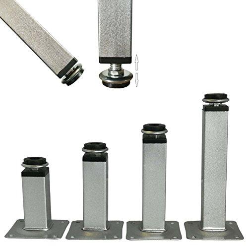 Möbelfüße verstellbar aus Metall - vielseitig einsetzbare Füße für Möbel Sofa Schrank Tisch - verschiedene Größen (10cm)
