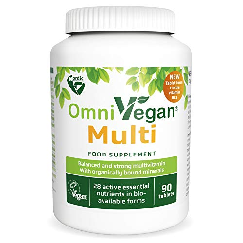 Vegan Multivitamins & Minerals Nordic Quality 90 Tablets with 28 Essential nutrients - by Nordic Nutraceuticals