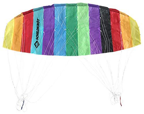 Schildkröt 970460 Dual Line Sport Kite 1.6, Zweileiner Lenkmatte, ab 12 Jahren, 45x160cm, inkl. 25 kp Polyesterschnüre, 2x25m auf Winder mit Schlaufen, 3-6 Beaufort