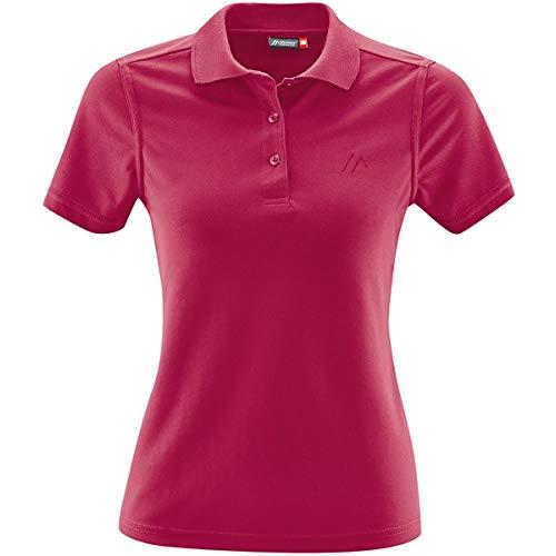 Maier Sports Damen Ulrike T-Shirt, Persian red, EU 42