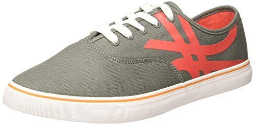 United Colors of Benetton Men Grey Sneakers-6 UK (40 EU)(7 US) (19A8SNEA9023I)