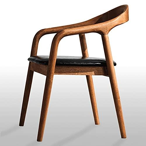 AJMINI Silla de Comedor de Madera Maciza, Silla Lateral de Lectura, sillón de Comedor tapizado, para Sala de Estar de Sala (Color : A)