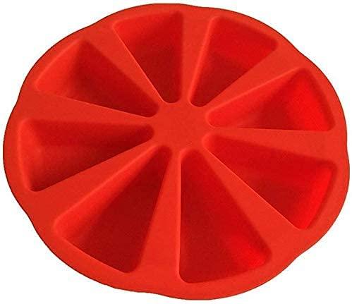Cakunmik Silicona Bake Ware Molde Grande para Molde De Pastel Cuadrado De 8 Triángulos
