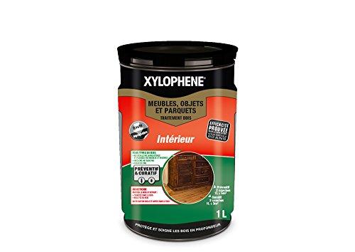 XYLOPHÈNE - Traitement bois intérieur meubles/objets/parquets - Anti Insectes - Traitement Préventif et Curatif - Incolore - 1L