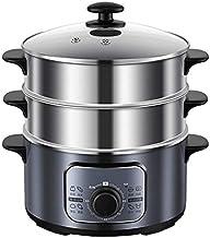 ECSWP Trois couches électriques Pot automatique Etuve à vapeur électrique à vapeur alimentaire vapeur Cuisinière Chauffe-p...