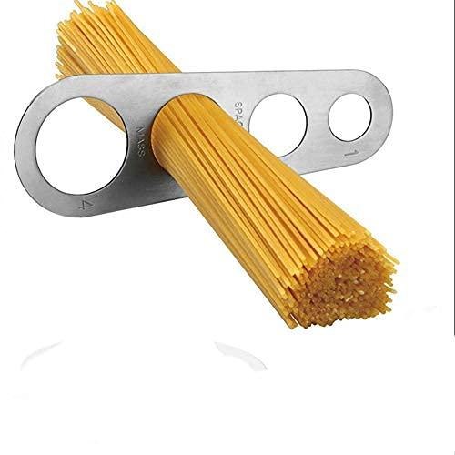 Herramienta de medición de espaguetis de acero inoxidable, herramienta de control de porciones de pasta con 4 porciones de cocción para