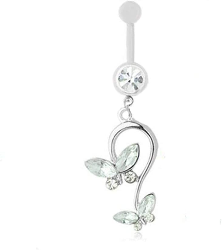 Urns Ashes Funeral Butterfly Dangle Pendant Ball Button Barbell Bar Belly Navel Ring Body Piercing,Colour Name:Blue Pet Memorial Dog cat Urn (Color : White)