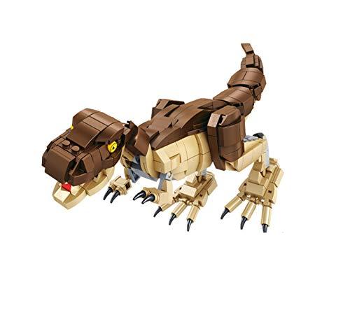 Micro Bloques De Construcción De Dinosaurios Para Niños, Modelos De Tiranosaurio Mini Juguetes Educativos De Construcción De Bricolaje Regalo 3D Rompecabezas Divertidos Ladrillos De Construcción,A