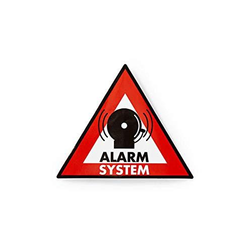 Warnhinweis | Symbol für Alarmanlage | Set aus 5 Stück
