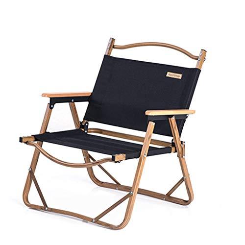 Campingstuhl Leicht Aluminium-Fold Up Fishing Chair Compact Heavy Duty Faltbare Camping Stuhl Tragbare Folding Picknick-Stuhl Klappstuhl für den Außenbereich (Color : Black)