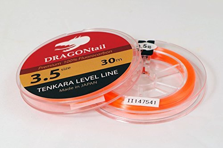 DRAGONtail Tenkara Level Line 30m Hi-Vis orange (3)