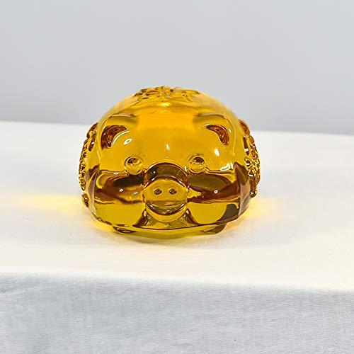 Crystal varken figuurornament, mini-collectie beeld glazen varken, geluksvarken voor de thuisdecoratie festival 4x4cm(2x2inch) goud