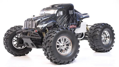 Exceed RC 1/8 th Scale 2.4Ghz Monster Truck MadBeast Nitro Gas RTR Version (Black/Silver)