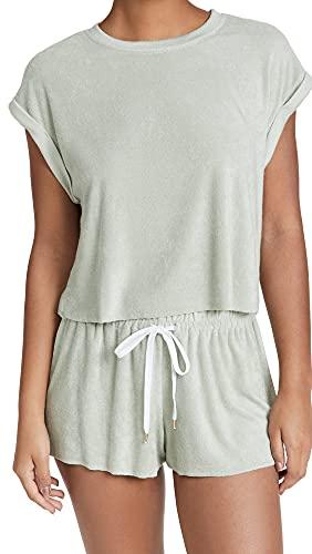 Honeydew Intimates Women's Just Chillin Pajama Set, Birch, Grey, Green, Medium