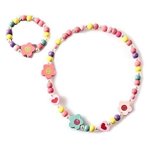 Viesky 1 juego de perlas de madera para niños y niños, mezcla de colores
