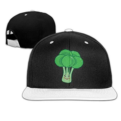 Niedliche Brokkoli Hip-Hop Baseball Cap Spback Hüte solide Flache Rechnung Trucker Hat Unisex (5 Farben, einstellbar)