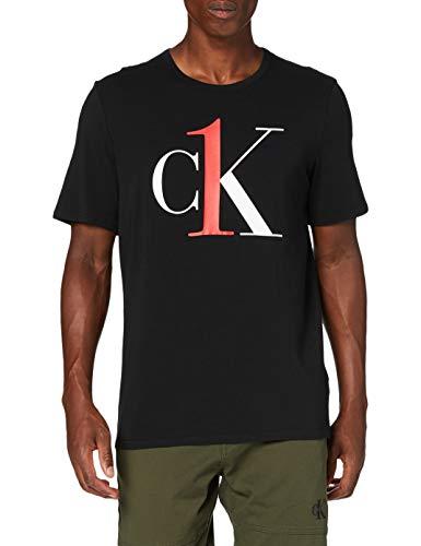 Calvin Klein Herren S/s Crew Neck Schlafanzugoberteil, Schwarz (Black 3WX), X-Large