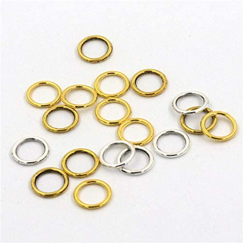 100Pcs Bombing new work 10Mm Outer Dia Zinc Alloy for Closed Large discharge sale Soldered Rings Jump