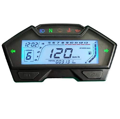SAMDO Universal Motorcycle Speedometer Odometer Tachometer RPM Speedometer Gauge 199 Kph Mph