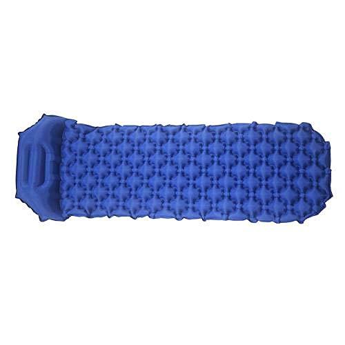 DHUMI Coussin Gonflable de Camping en Plein air Ultra-léger, Sac de Couchage Portable étanche à l'humidité, Tapis de Matelas avec Tapis de Couchage Gonflable, Bleu Marine