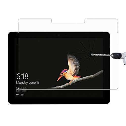 YPshell Screen Protector for 0.4mm 9H Surface Hardness Full Screen Tempered Glass Film for Microsoft Surface Go 10'