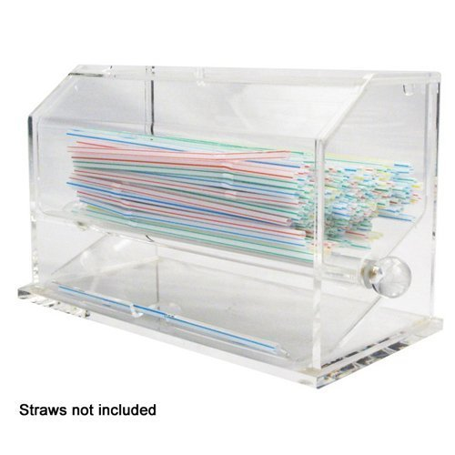 Winco ACSD-712 Acrylic Straw Dispenser - Set of 3