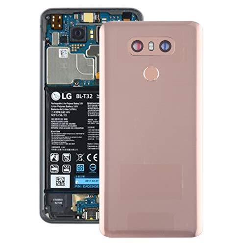 Reemplazo extraíble Batería cubierta trasera con sensor de huellas dactilares de la lente y la cámara for LG G6 / H870 / H870DS / H872 / LS993 / VS998 / US997 accesorios (Color : Gold)
