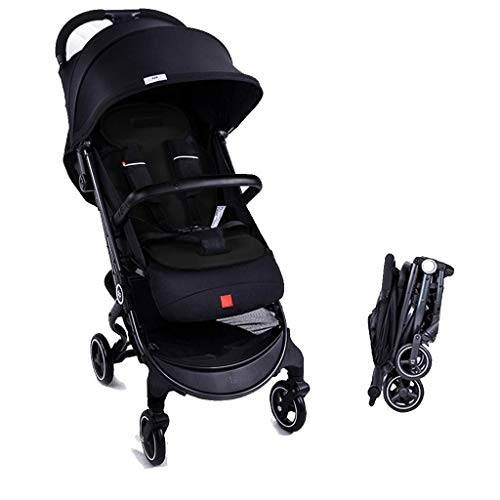 Best Deals! TZZ Baby Stroller Portable Lightweight Travel Pram, Easy One Hand Fold, with 5- Point Sa...