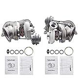 labwork TD04L4-17T Upgrade Bigger Twin Turbochargers Replacement for BMW N54 135i Z4 535i 535xi E82 E88 E89 E90 E91 E92 E93 3.0L N54B30 49131-07051+49131-070310 750HP