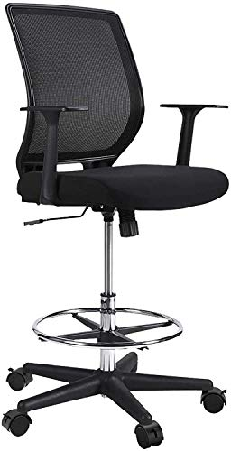 NATRKE Mesh Drafting Stool Chair With Brake Caster, Ergonomic Painting...
