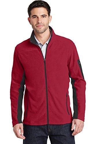 Port Authority® Summit Fleece Full-Zip Jacket. F233 Rich Red/ Black XS