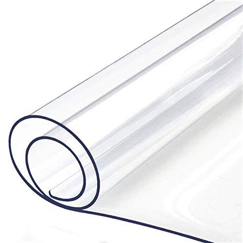 Doorzichtige kunststof Doorzichtige tafelkleedbeschermer Waterbestendig Heavy Duty 1,5 mm / 1 mm dik Doorzichtige tafelbeschermer Stofdichte tafelhoes Rechthoek tafelkleed Kunststof,1mm,100X100CM/39X39Inch