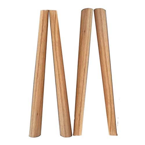 ZYFA voeten voor houten meubels, tafelpoten, voor eettafel, salontafel, kasten, enz, vervanging poten (4 stuks)