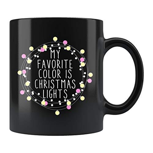 Taza de Navidad con luces de Navidad, regalo de Navidad, regalo de Navidad, regalo para amantes de la Navidad, taza de cerámica, 445 ml