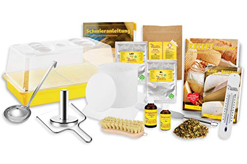 Käse selber Machen - Hartkäse (Bergkäse) selber Machen Set; Traditionelle Käseherstellung