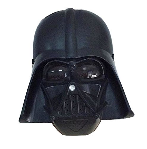 Inception Pro Infinite Maschera per Costume - Travestimento - Carnevale - Halloween - Guerriero Nero Darth Vader Star Wars - Colore Nero - Bambino