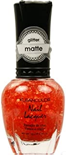 (3 Pack) KLEANCOLOR Glitter Matte Nail Lacquer - Poppy Field (並行輸入品)