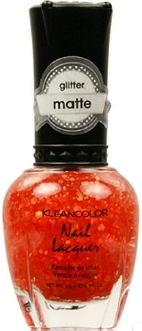 水を飲むミュージカルファウル(3 Pack) KLEANCOLOR Glitter Matte Nail Lacquer - Poppy Field (並行輸入品)