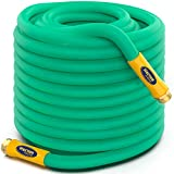 TBI Pro Garden Water Hose Lightweight Drinking Water Safe with Solid Brass Fittings - Burst Strenght 500 psi Leak-Free 3...