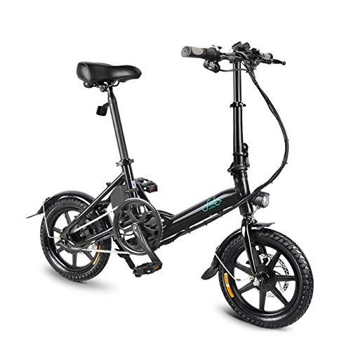 FIIDO D3 Ebike, bicicleta eléctrica plegable con faro de LED para adultos, 250W 7.8Ah Bicicletas eléctricas delanteras y traseras con...