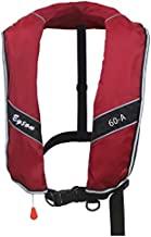 Top Safety Oversized Adult Life Jacket with Whistle - Manual Version Inflatable Lifejacket Life Vest PFD for Boating Fishing Sailing Kayaking Surfing Swimming - XL XXL XXXL Extra Large Plus Size Adult