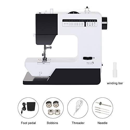 HEOMU Máquina de coser, Mini máquina de coser con opciones ligeras de doble potencia, 12 puntadas perfectas para el hogar Niños principiantes Niñas y niños (Negro)