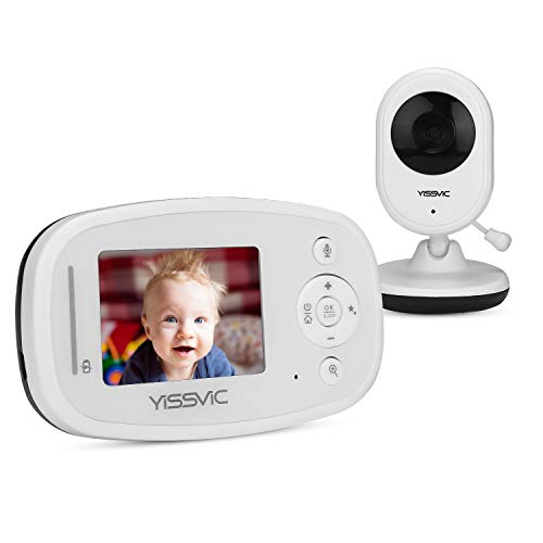 Yissvic Baby Monitor 2,4 Pollici LCD Babyphone Audio e Video Wireless con Visione Notturna Bambini per...
